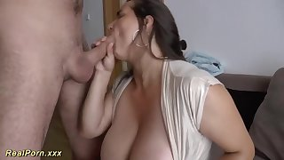 German female is providing awesome titjobs to her folks, and loving ever after single 2nd of it