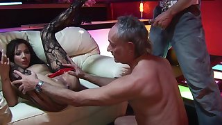 Elderly Libertines With Yam-Sized Spunk-Pumps Bourgeoning Obscene Striptease Cissified