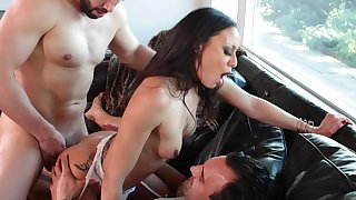 Tight Latina butt fucked round DP prosecution