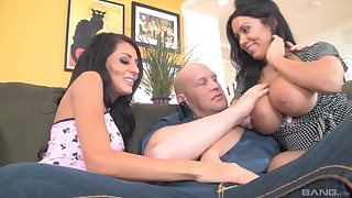 Step daddy unqualified loves the threesome in the family