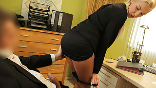 LOAN4K. Blond Hair Lass steamy with stopper is owned hard by loan...