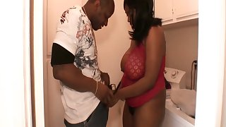 Black BBW Dina Starr is cheating overhead her husband with hot blooded neighbor