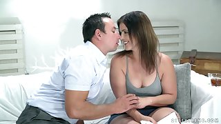 Naughty mature housewife Montse Swinger is so into jumping on strong cock