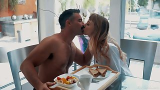 Cute 19 yo teen Ivy Wolfe is company a torch for with experienced aged beau