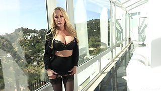 Porn diva Brandi A torch for is fucked and jizzed apart from horny Danny Lay by