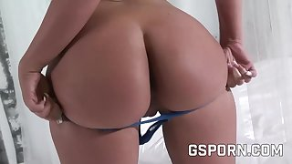 Sensual blonde fucked doggy style