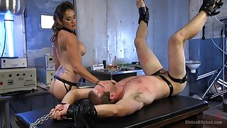 Exclusive femdom with a lord it over mom acting gruelling