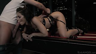Spoiled chick Adriana Chechik gets fucked and jizzed by one kinky buyer