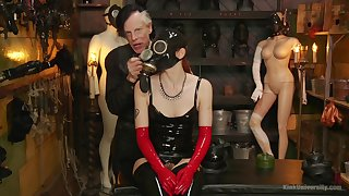 Full latex fetish and bizarre sexual scenes