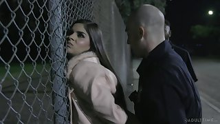 Immigrant Latina chick Katya Rodriguez is punished by sentry dude hard