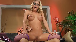 Oversexed dude fucks her put up the shutters seal holes then cums heavens her glasses