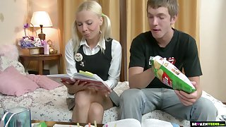 Brutal doggy anal pounding is what naughty blonde teen Ekaterina wins