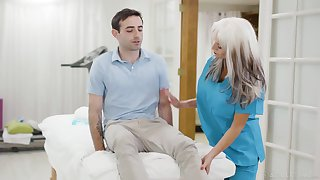 Jaw dropping mature be concerned Sally Dangelo is fucking young patient