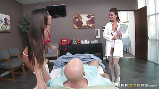 Nurse and a doctor please a patient - 	 Gianna Nicole & Rahyndee James