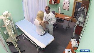 Amateur blonde model Elis Gilbert gets fucked good by her doctor