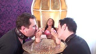 Oomph Girls enjoy foot licking - femdom porn