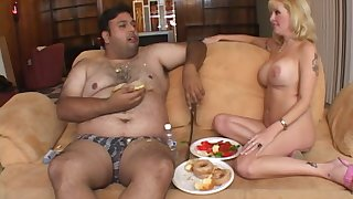 Nasty guy eats and gets his blarney pleasured apart from mature Lexxy Fox