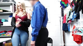 Sexy chubby blonde Lisey Sweet gets punished be proper of shoplifting