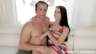 Sizzling blackness Alex Coal is fucked together with jizzed by one kinky man
