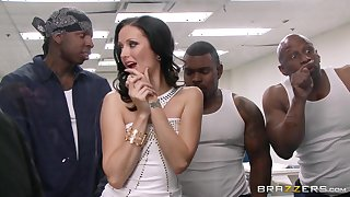Wild interracial gangbang with double bowels of the earth for Hailey Young