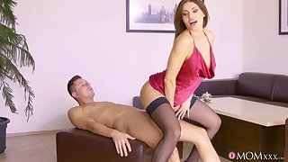 Talented lady in skivvies gives dude tons of sex pleasures