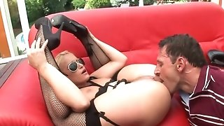 Chick officer getting dicked sideways in super-sexy ebony pantyhose and high-heeled shoes free sex